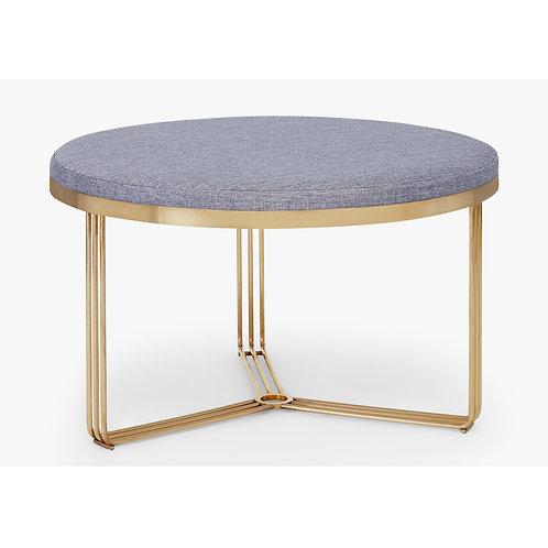 Large Finn Circular Coffee Table or Stool - Brass Frame