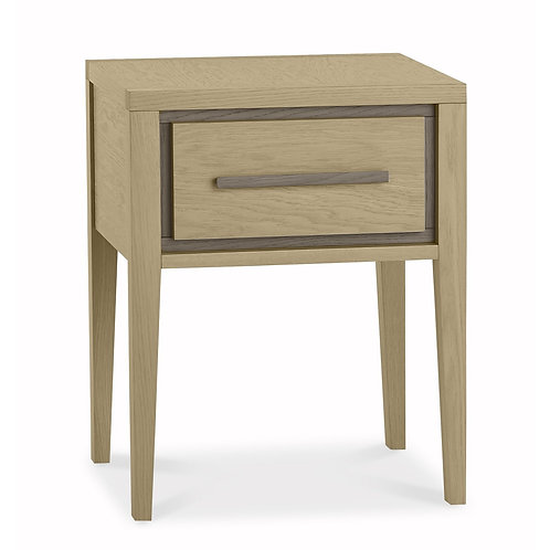Rimini Aged Oak & Weathered Oak 1 Drawer Nightstand