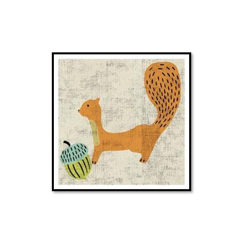 Ada's Squirrel - Framed & Mounted Art