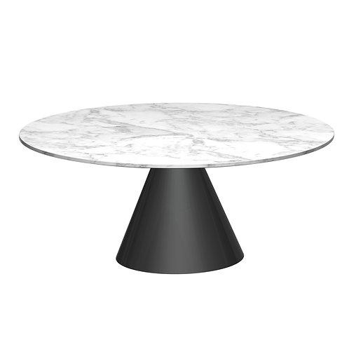 Oscar Large Circular Coffee Table - Black Base