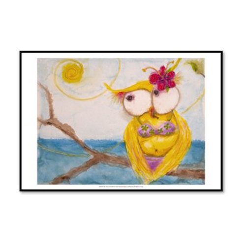 Ms. Hoo in Paradise - Framed & Mounted Art