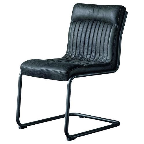 Elba Leather Chair Antique Ebony