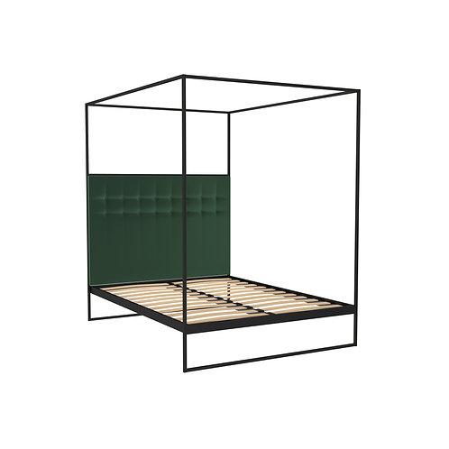 Double Federico Canopy Bed in Black Matt Frame