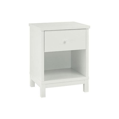 Atlanta White 1 Drawer Nightstand