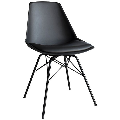 Barnet Black Dining Chair - Pack of 4