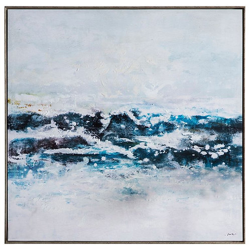 Peaceful Waves - Canvas Art in Frame