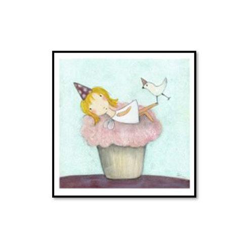 Cupcake Fairy - Framed & Mounted Art