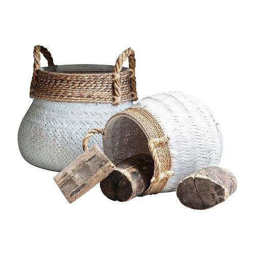 Monacco Bamboo Basket - Set of 2