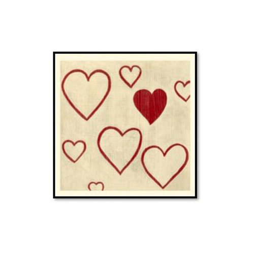 Best Friends- Hearts- Framed & Mounted Art