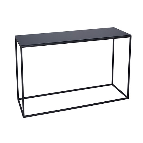 Kensal Console Table - Matt Black Frame