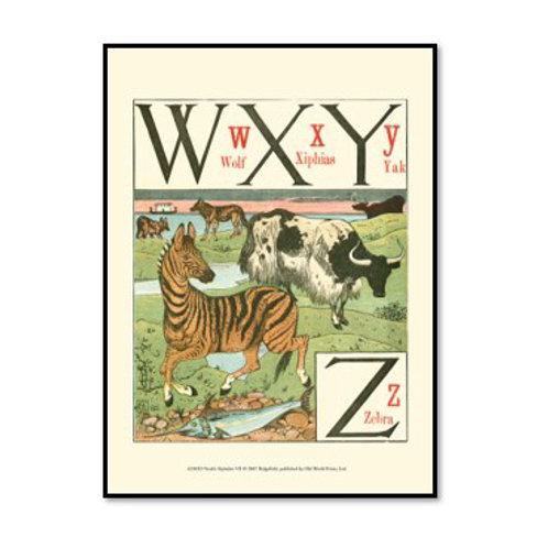 Noah's Alphabet VIII - Framed & Mounted Art