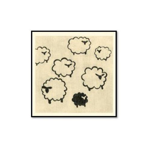 Best Friends- Sheep - Framed & Mounted Art