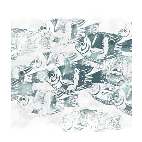 Sealife Batik III - Canvas Art