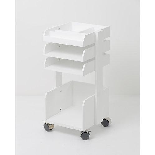Caspar Roller Workspace Organiser - White