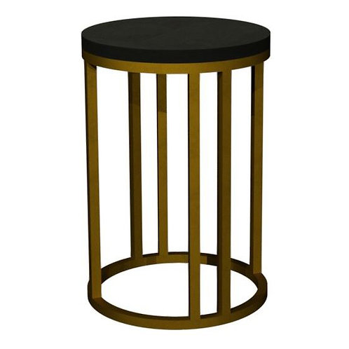 Chevron Peppercorn Ash Side Table