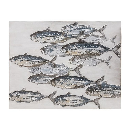 Swim with the Fish Art Canvas