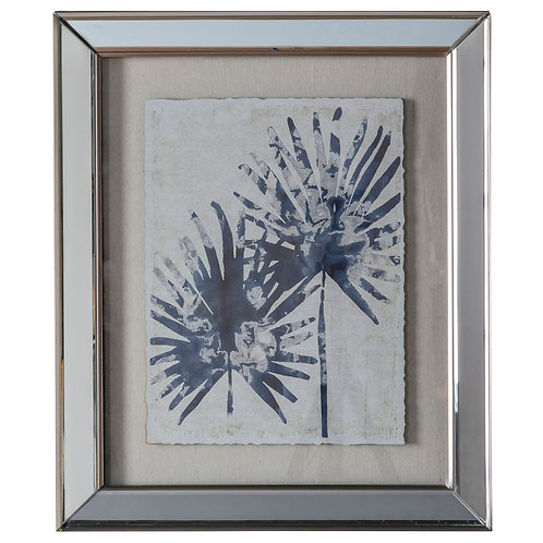 Blue Leaf Print II - Framed Art