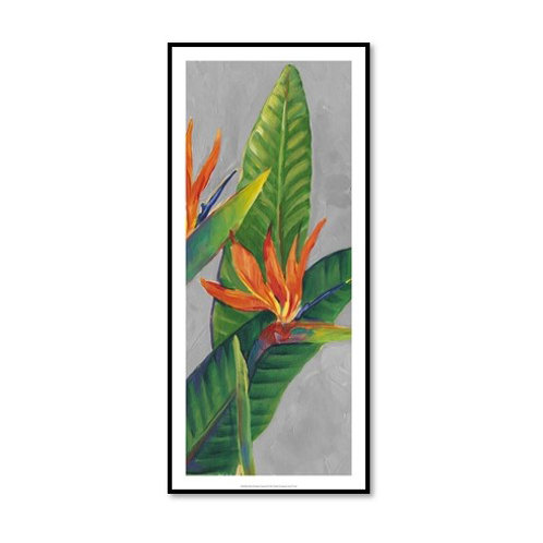 Birds of Paradise Triptych III - Framed & Mounted