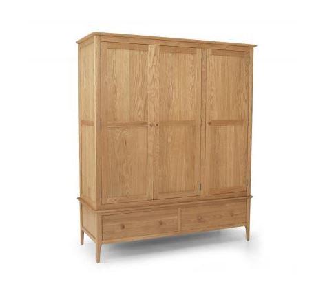 Corbett Oak - Triple Wardrobe