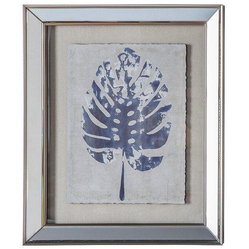 Blue Leaf Print I - Framed Art