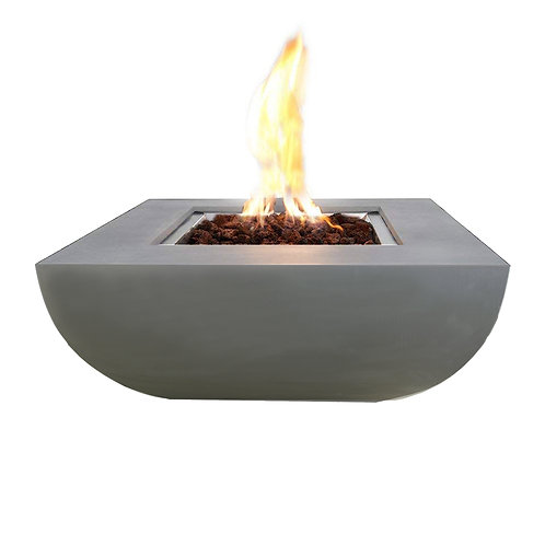 Westport HPC Concrete Square Fire Table in Light Grey