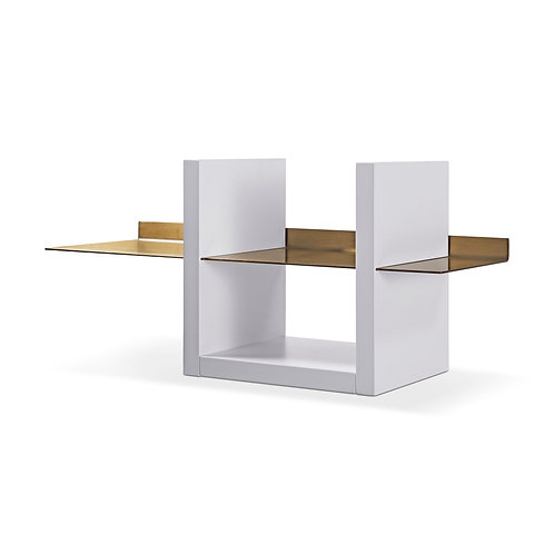 Alberto Wall Shelf Unit - White