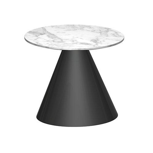Oscar Circular Side Table - Black Base