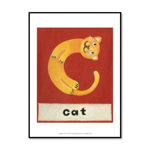 C is for Cat - Framed & Mounted Art