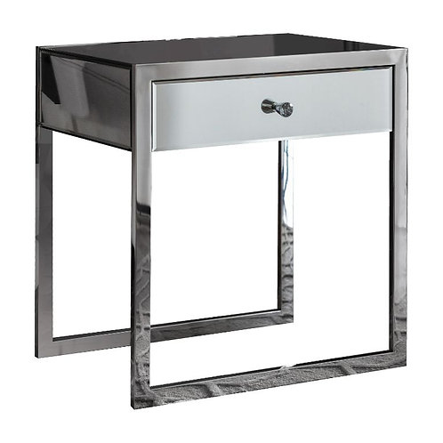 Carter 1 Drawer Mirrored Side Table