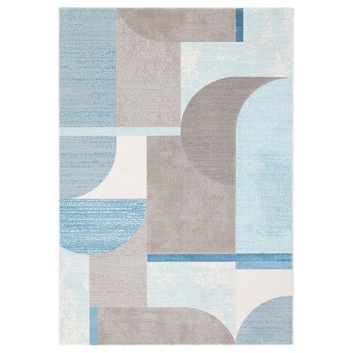 City - Bauhaus I Rug - Blue/ Grey