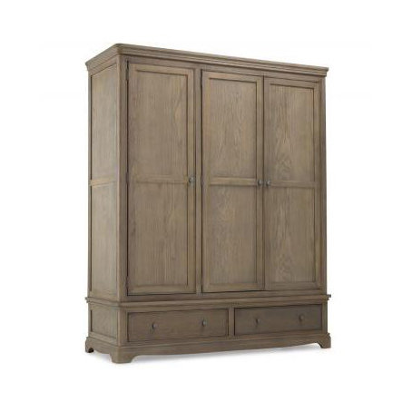 Triple Wardrobe With Drawer - Colmar Oak