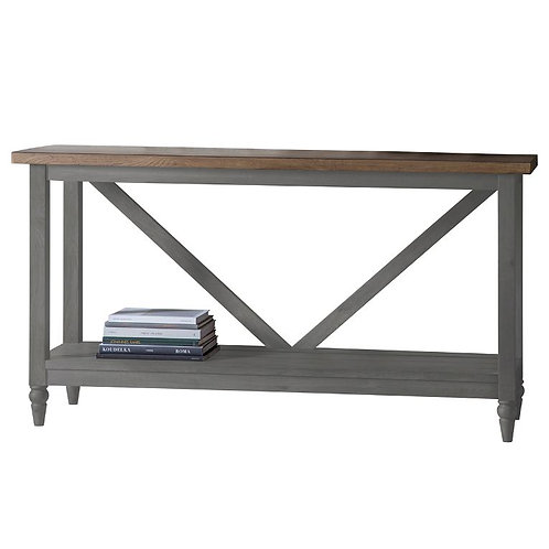 Bakers Console Table in Grey