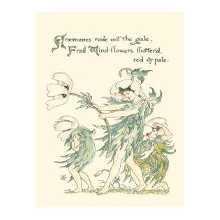 Shakespeare's Garden I (Anemone) - Canvas Art