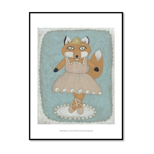 Ballerina Animals I - Framed & Mounted Art