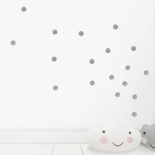 Watercolour Dots - Kids Wall Stickers - Mono-Colour