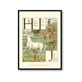 Noah's Alphabet III - Framed & Mounted Art