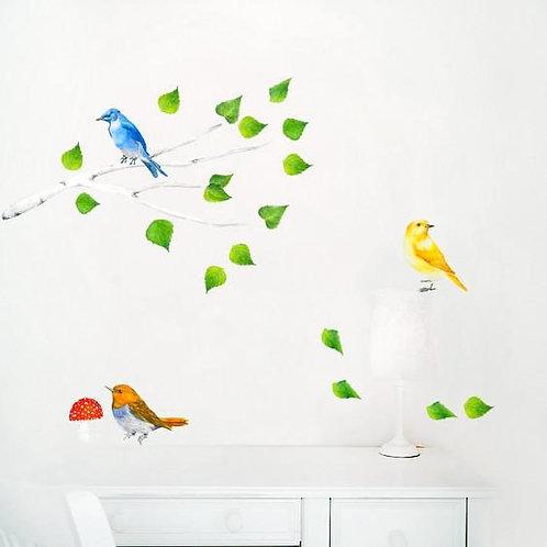Branch & Birds - Kids Wall Stickers