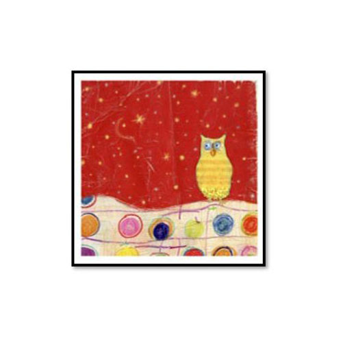 Feathers, Dots & Stripes I- Framed & Mounted Art