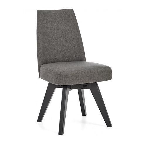 Brunel Gunmetal Upholstered Swivel Chair - Cold Steel (Pair)