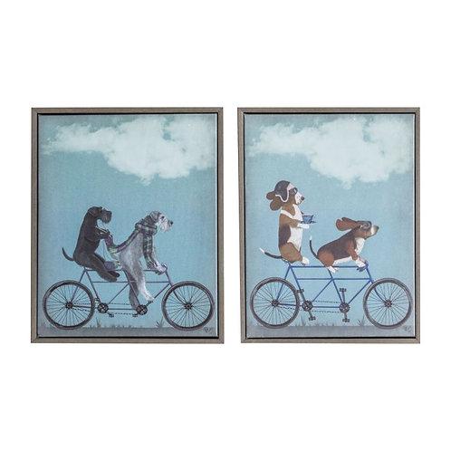 Barking Bikes - Canvas Art in Frame