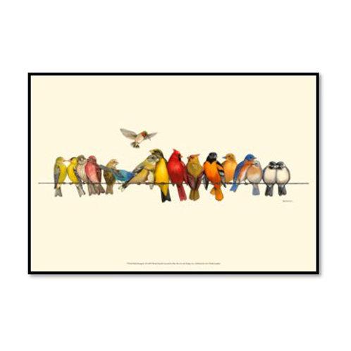 Bird Menagerie I  - Framed & Mounted