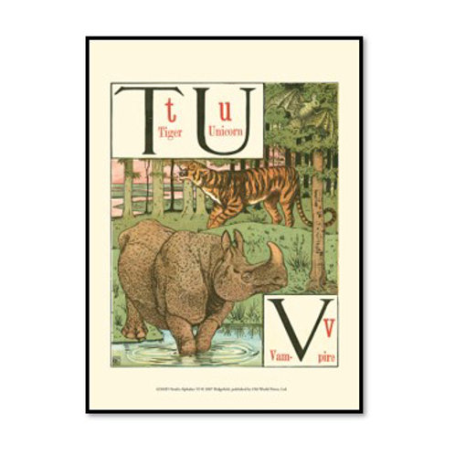 Noah's Alphabet VI - Framed & Mounted Art