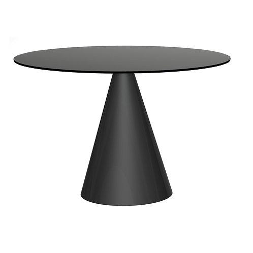 Oscar Large Circular Dining Table - Black Base