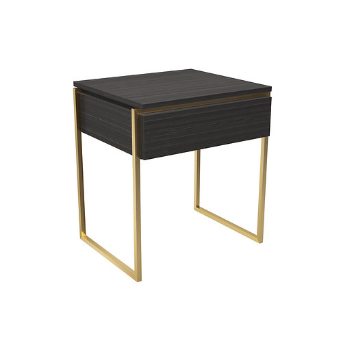 Federico Side Table Drawer in Brass Frame