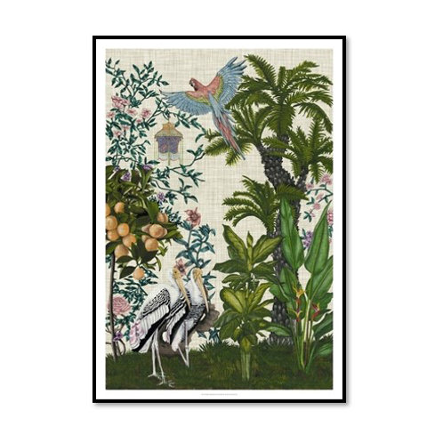 Paradis Chinoiserie II - Framed & Mounted