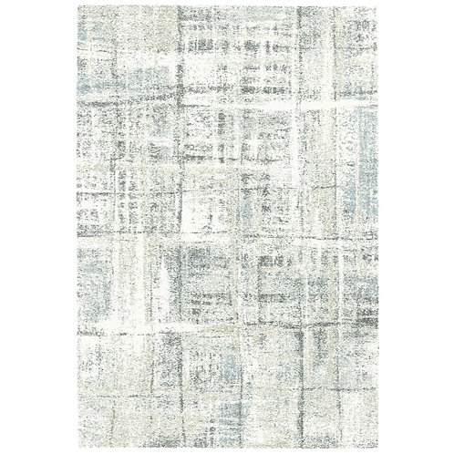 Mehari - Grid II Rug - Grey/ Blue