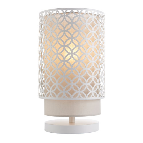 Penelope Table Lamp - White and Grey