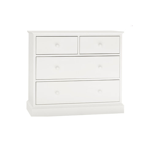 Ashby White 2+2 Drawer Chest