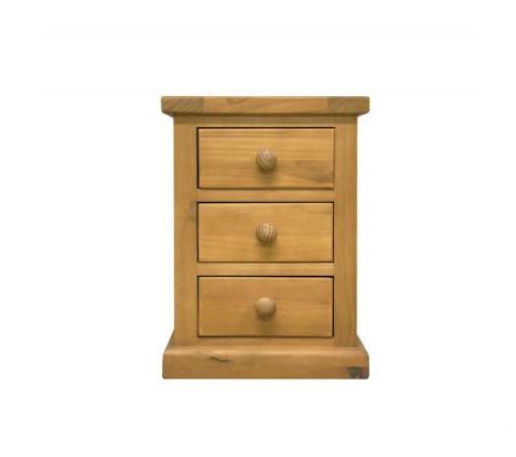 Chunky Pine - Kids 3 Drawer Bedside Cabinet