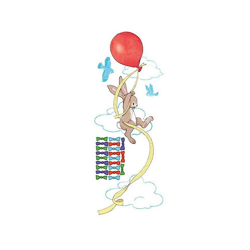 Balloon Height Chart Bunny - Kids Wall Stickers
